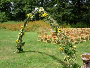 Wedding arch at Temple Farm